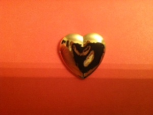 Golden Heart Pin