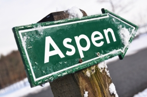 ASPEN road sign