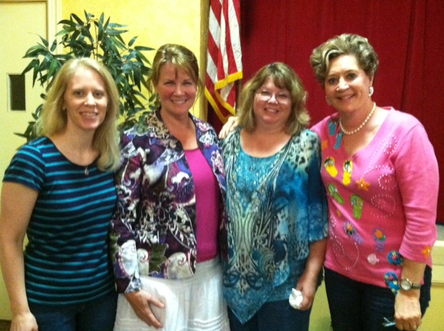 Who are these beautiful women? Heather with a few of my K&T sisters--Gwen, Sarah and Lena!