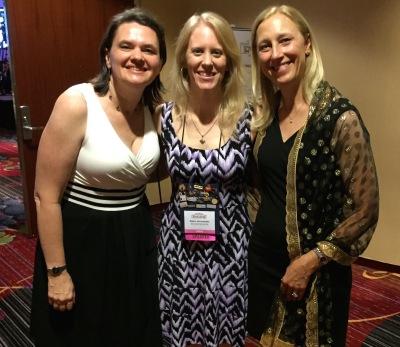 Rachel, Gwen, and Krista after the Golden Heart/RITA Awards ceremony