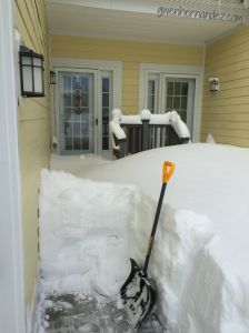 Snow on front walk