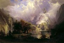 Rocky Mountain Landscape (Albert Bierstadt) [PD-US]